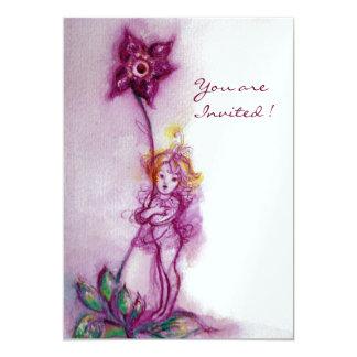 THUMBELINA 2 ,pink purple white ice metallic Card