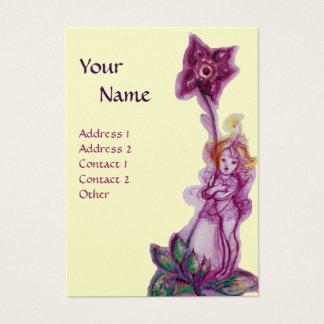 THUMBELINA 3 MONOGRAM purple ,pink,silver platinum Business Card