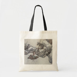 Thumbelina and Mouse Princess Winter Fairy Tale Canvas Bags
