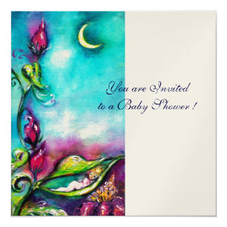 THUMBELINA ,blue pink red white gold metallic Card