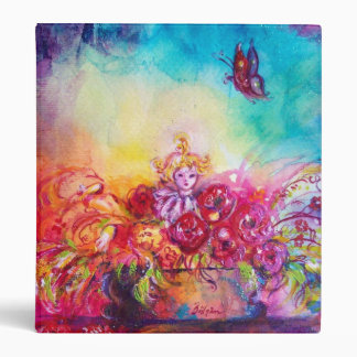 THUMBELINA,FLOWER BASKET AND BUTTERFLY 3 RING BINDER
