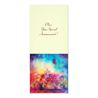 THUMBELINA,FLOWER BASKET AND BUTTERFLY CARD