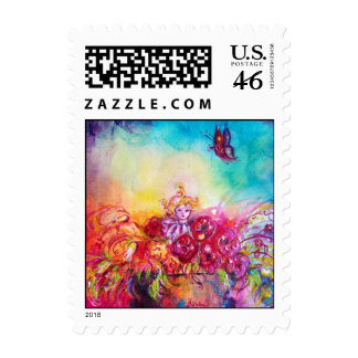 THUMBELINA,FLOWER BASKET AND BUTTERFLY POSTAGE STAMP