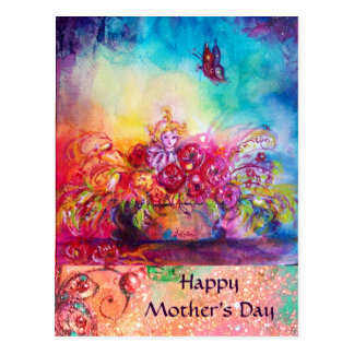 THUMBELINA,FLOWER BASKET AND BUTTERFLY POSTCARD