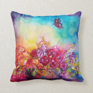 THUMBELINA,FLOWER BASKET AND BUTTERFLY THROW PILLOW