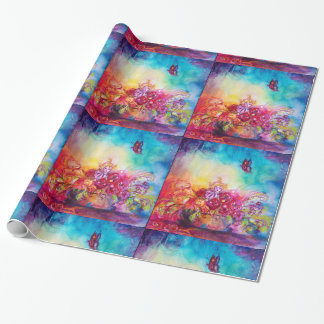 THUMBELINA ,FLOWER BASKET AND BUTTERFLY WRAPPING PAPER