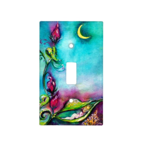 Thumbelina Sleeping Between Rose Leaves Light Switch Cover Zazzlecom