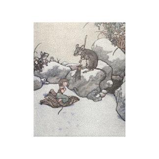Thumbelina y cuentos de hadas de princesa Winter d Impresion De Lienzo