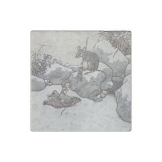 Thumbelina y cuentos de hadas de princesa Winter Imán De Piedra