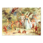 Thumbelina's Wedding in the Forest 5x7 Paper Invitation Card