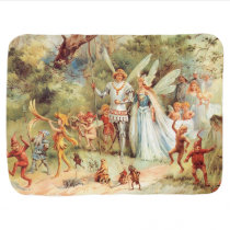 Thumbelina's Wedding in the Forest Baby Blanket