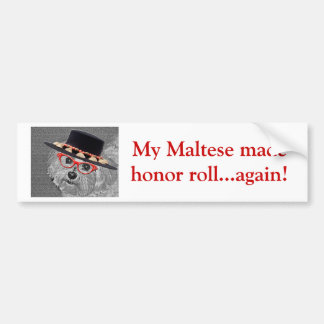 Thumbellina is my name I'm a beautiful maltese Car Bumper Sticker