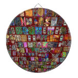 ThumbNAIL Collage -  Artistic Vintage Collection Dartboard