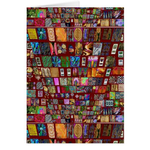 ThumbNAIL Collage -  Artistic Vintage Collection Greeting Card