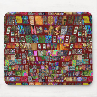 ThumbNAIL Collage -  Artistic Vintage Collection Mousepad