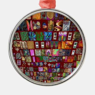 ThumbNAIL Collage -  Artistic Vintage Collection Christmas Tree Ornaments
