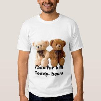 thumbnailCAB92SJKtb, Faux-fur kills Teddy- bears T Shirts