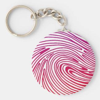 thumbprint del artista llavero redondo tipo pin
