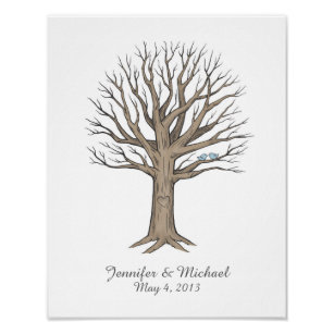 Fingerprint Guestbook Posters & Photo Prints | Zazzle