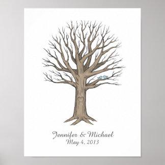 Thumbprint Fingerprint Wedding Tree Guestbook
