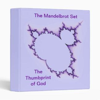 Thumbprint púrpura de la carpeta de dios