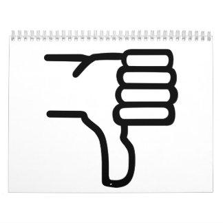 Thumbs down calendar