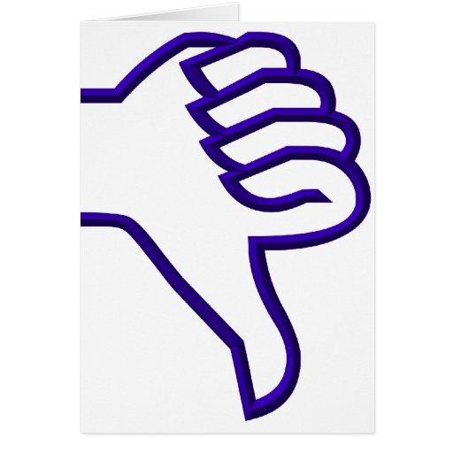 Thumbs down card