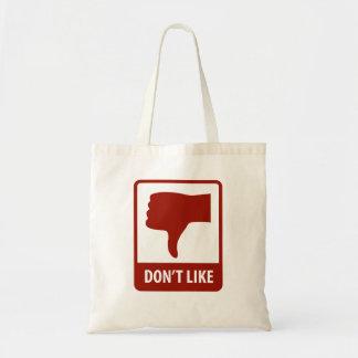 Thumbs Down, Don't Like Tote Bag
