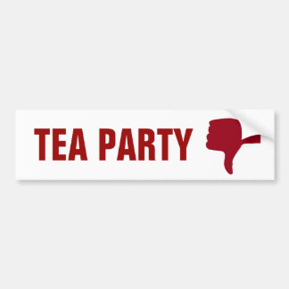 Thumbs Down for Tea Party Bumper Sticker