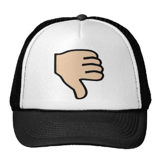 thumbs down hat