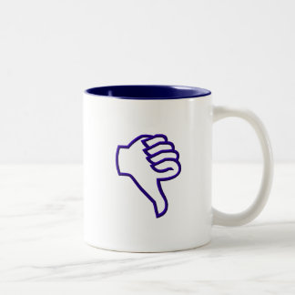 Thumbs down mug