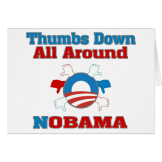 Thumbs Down NObama Card