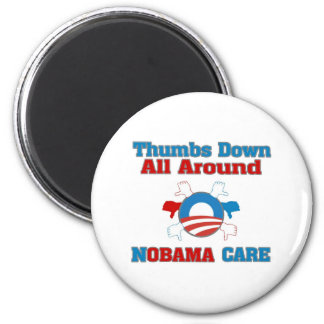 Thumbs Down NObama Care 2 Inch Round Magnet