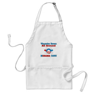 Thumbs Down NObama Care Adult Apron