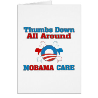 Thumbs Down NObama Care Card