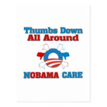 Thumbs Down NObama Care Post Card
