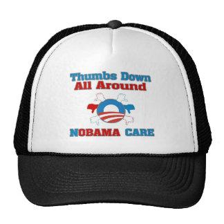 Thumbs Down NObama Care Trucker Hat
