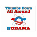 Thumbs Down NObama Post Cards