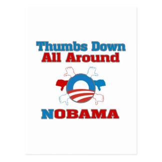 Thumbs Down NObama Postcard