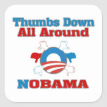 Thumbs Down NObama Square Sticker