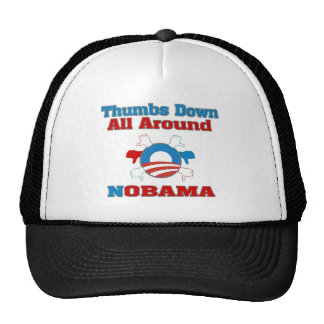 Thumbs Down NObama Trucker Hat