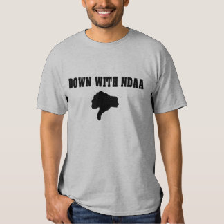 Thumbs Down On NDAA T-Shirt