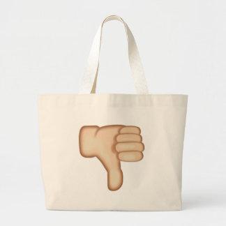 Thumbs Down Sign Emoji Large Tote Bag