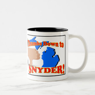 Thumbs down to Rick Snyder Two-Tone Coffee Mug