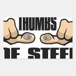 Thumbs of Steel Rectangular Sticker