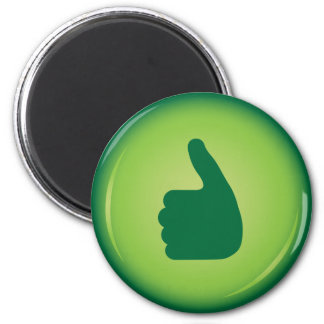 Thumbs up 2 inch round magnet