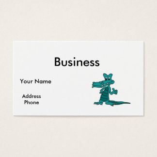 thumbs up alligator business card