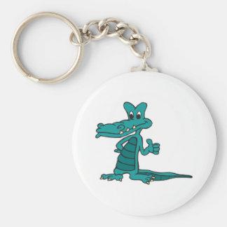 thumbs up alligator keychain