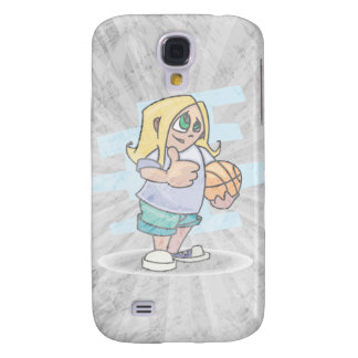 thumbs up basketball girl cartoon graphic galaxy s4 covers