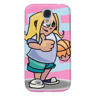 thumbs up basketball girl cartoon graphic samsung galaxy s4 cases